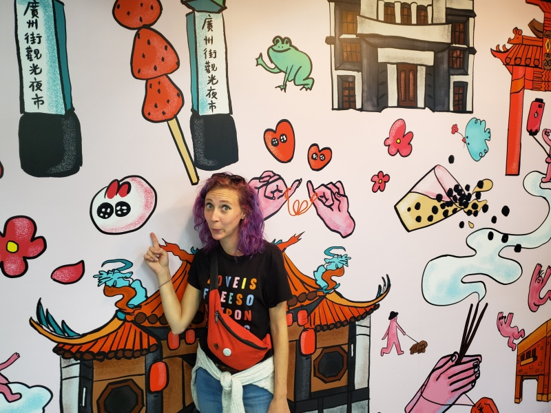 Lungshan Temple 艋舺龍山寺 Taipei Taiwan. Trying bubble tea in the place it was invented